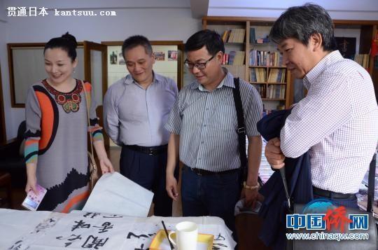 日本黄檗文化交流团访问福清黄檗文化促进会。