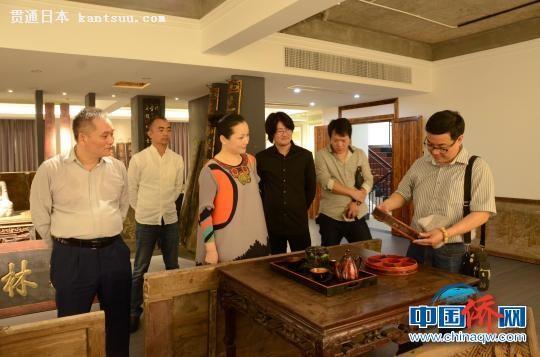 日本黄檗文化交流团访问福清黄檗文化促进会。 陈芝宽 摄